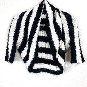 Bebe Alpaca Shrug Chunky Knit Striped size XS